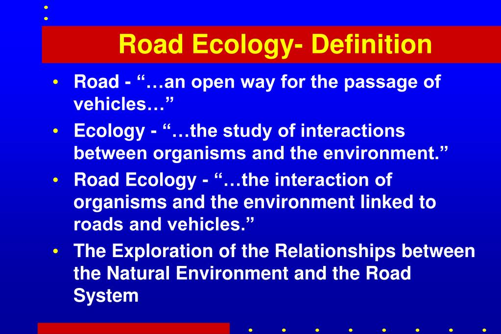 Road Ecology- Definition