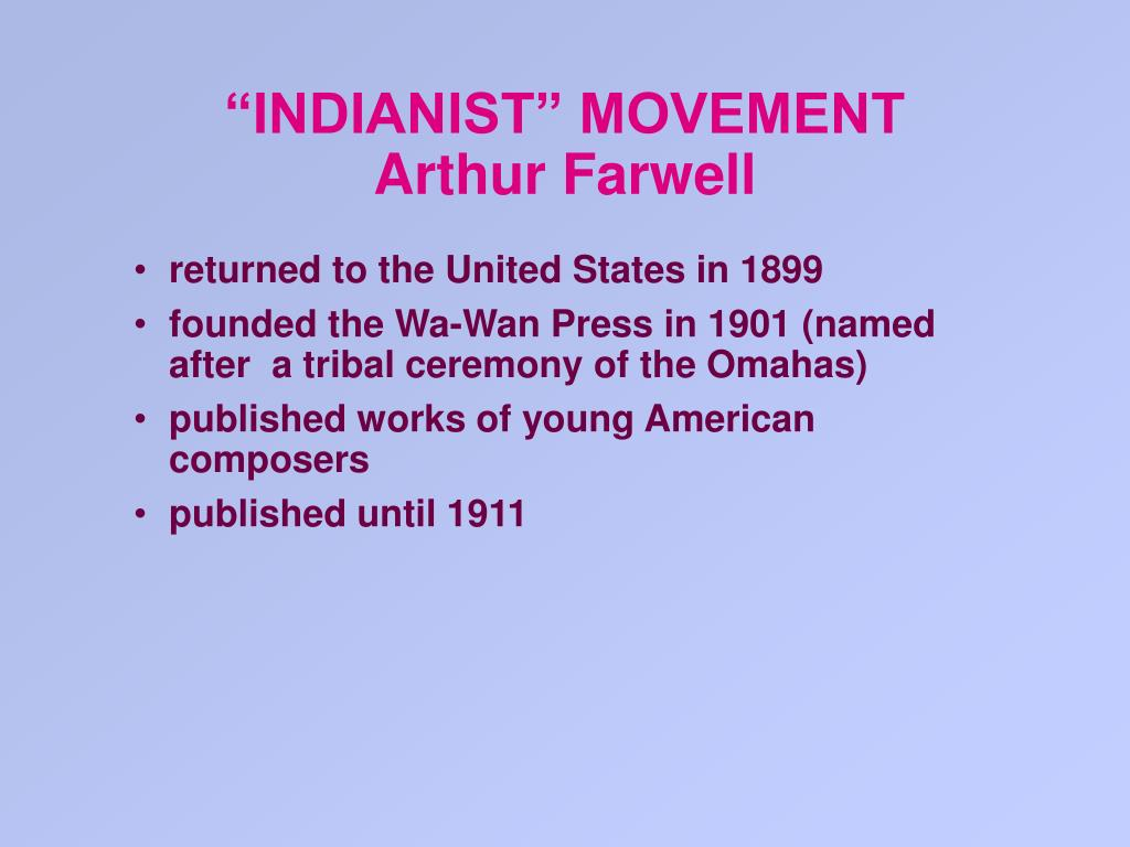 """INDIANIST"" MOVEMENT"