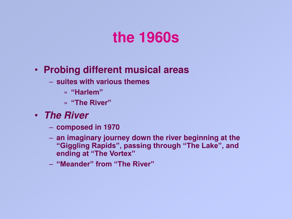the 1960s