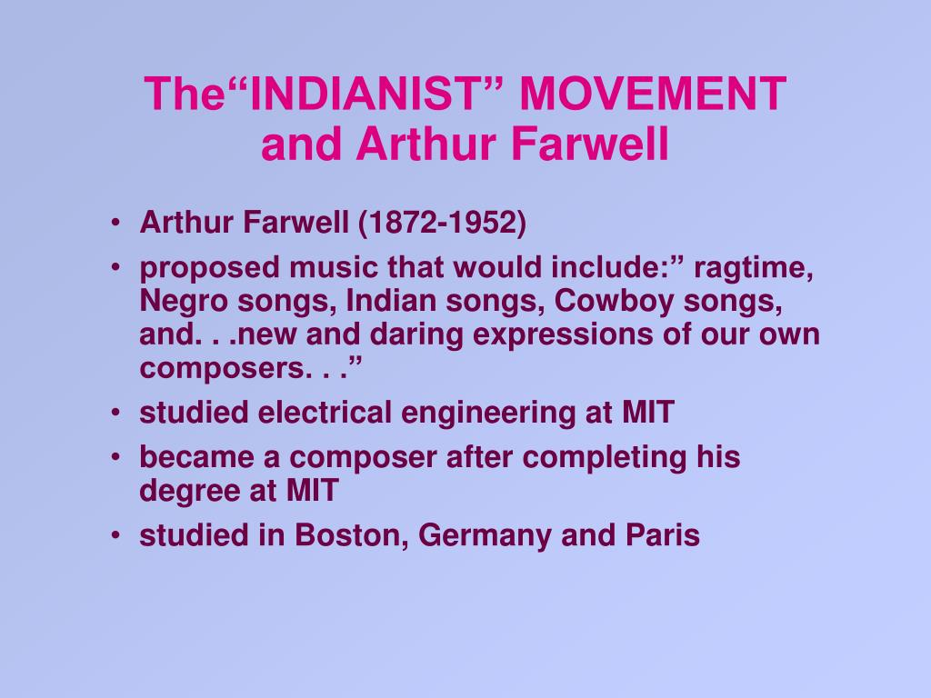 "The""INDIANIST"" MOVEMENT"