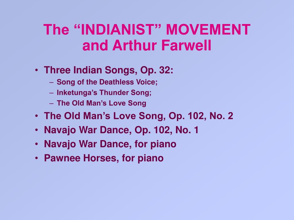 "The ""INDIANIST"" MOVEMENT"