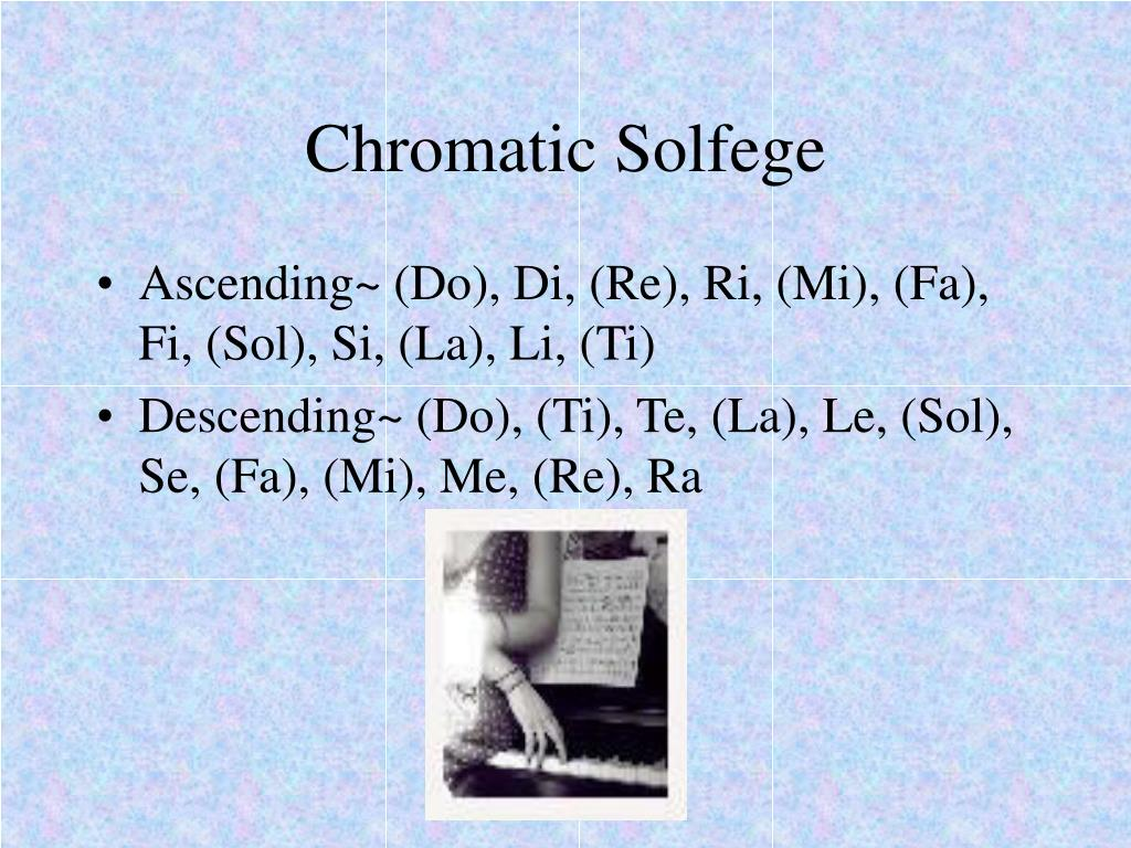 Chromatic Solfege