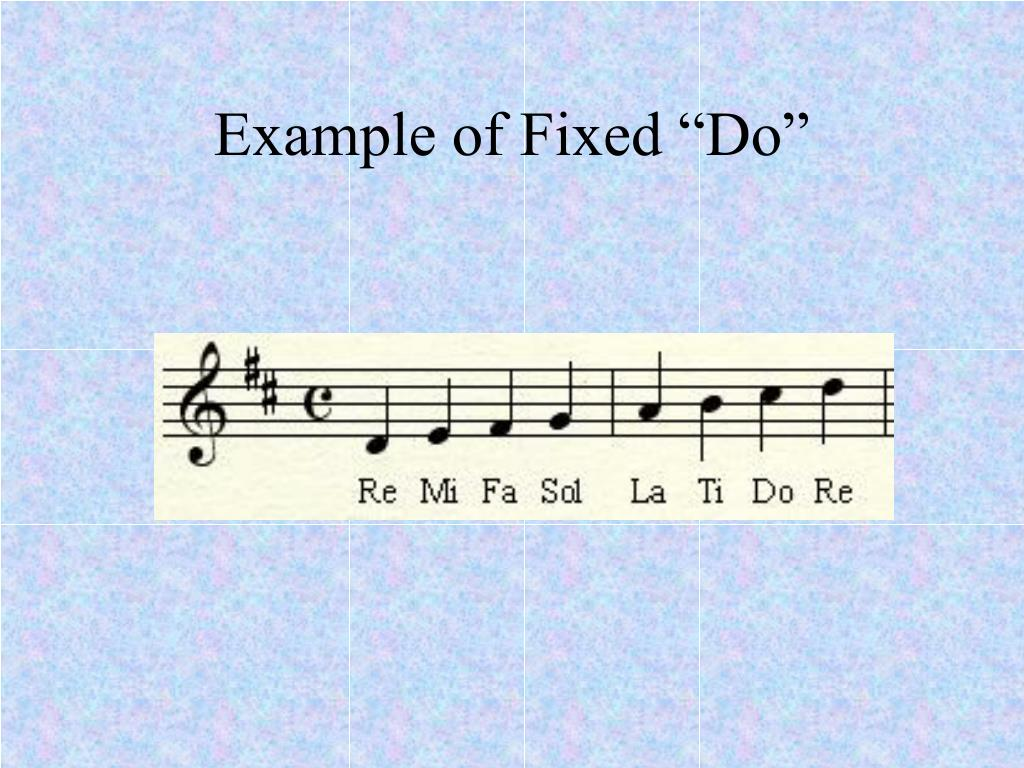 "Example of Fixed ""Do"""