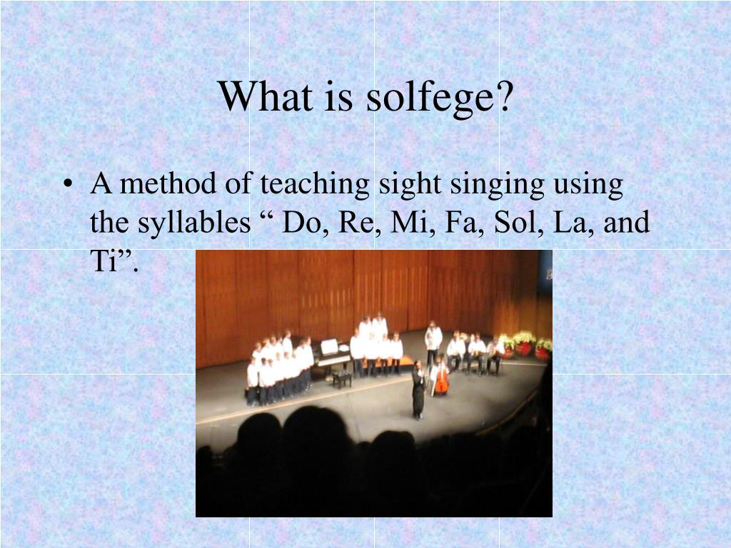What is solfege?