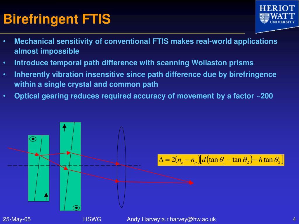 Birefringent FTIS