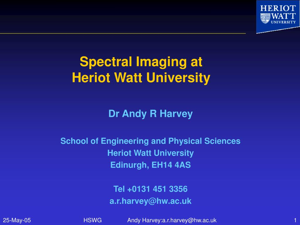 Spectral Imaging at