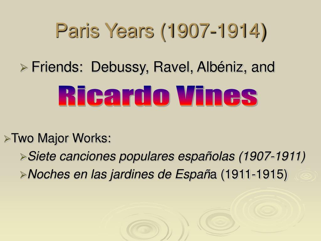 Paris Years (1907-1914)