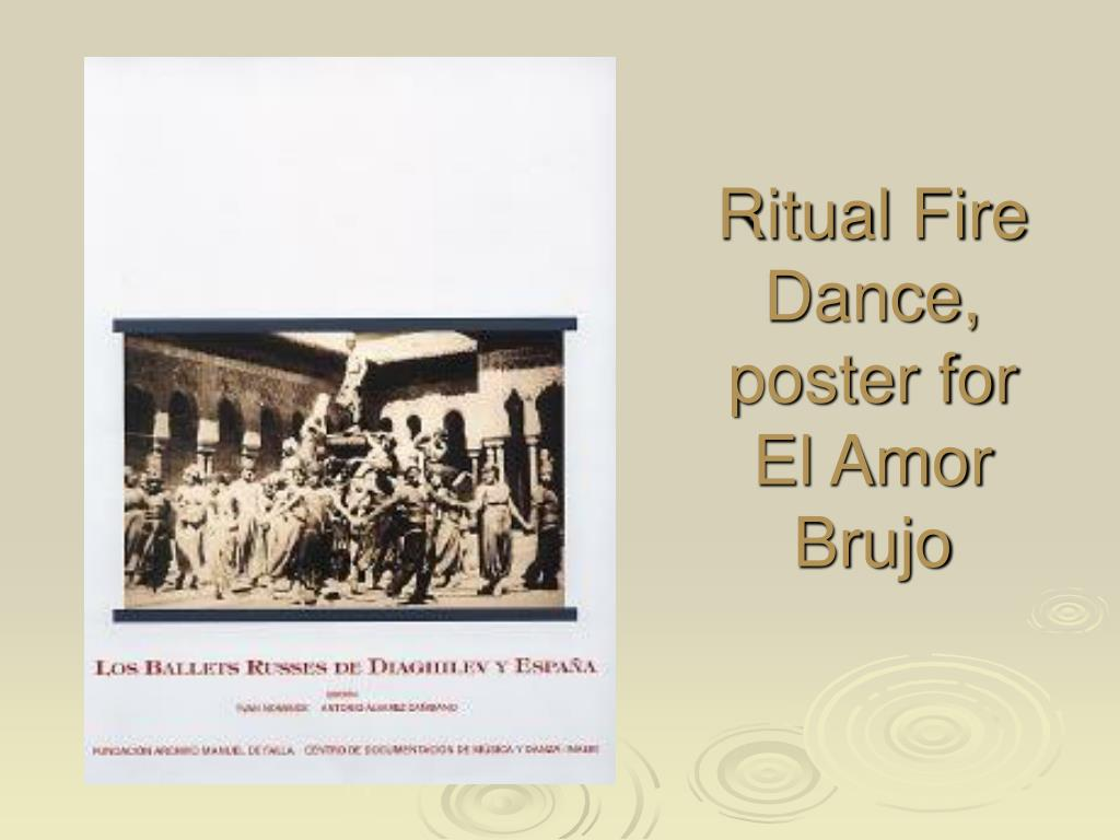 Ritual Fire Dance, poster for El Amor Brujo