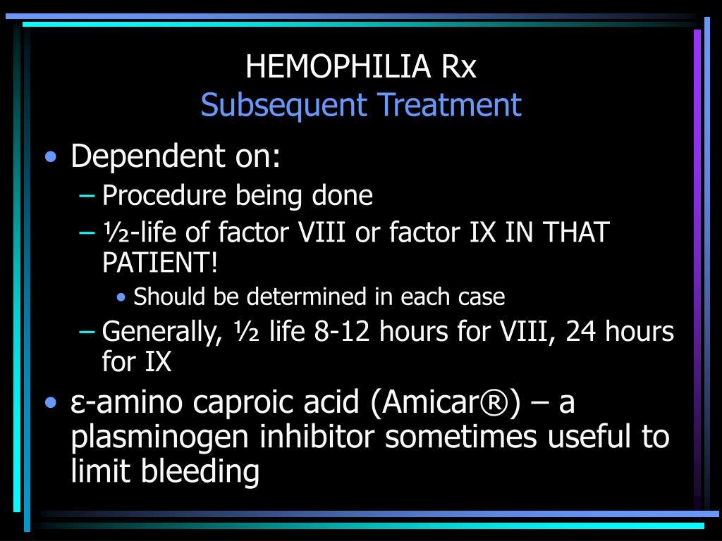 HEMOPHILIA Rx