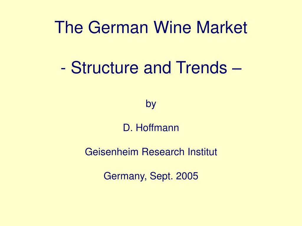 The German Wine Market