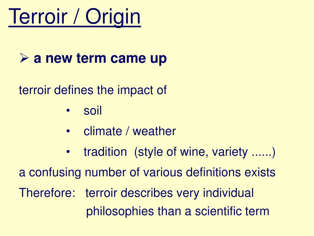 Terroir / Origin