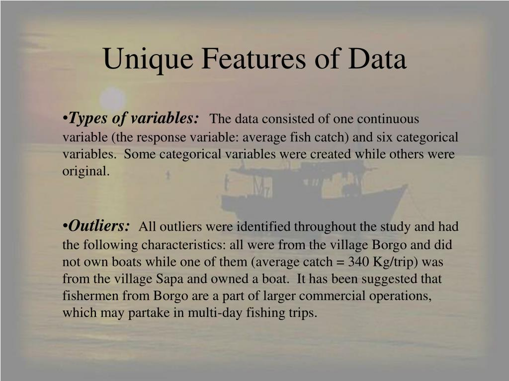 Unique Features of Data