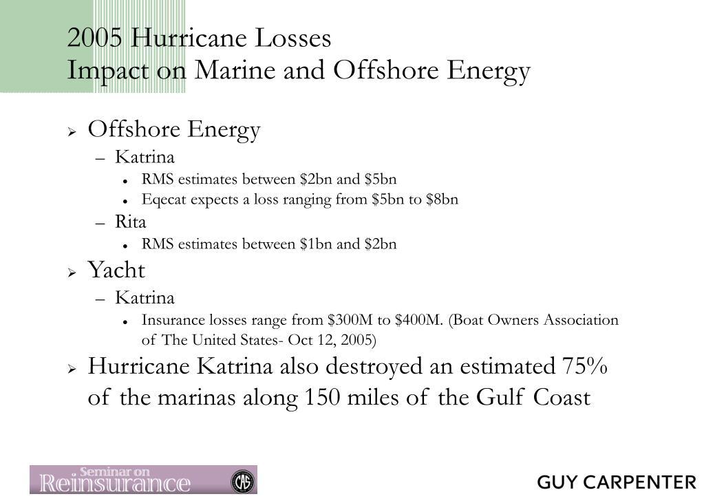 2005 Hurricane Losses
