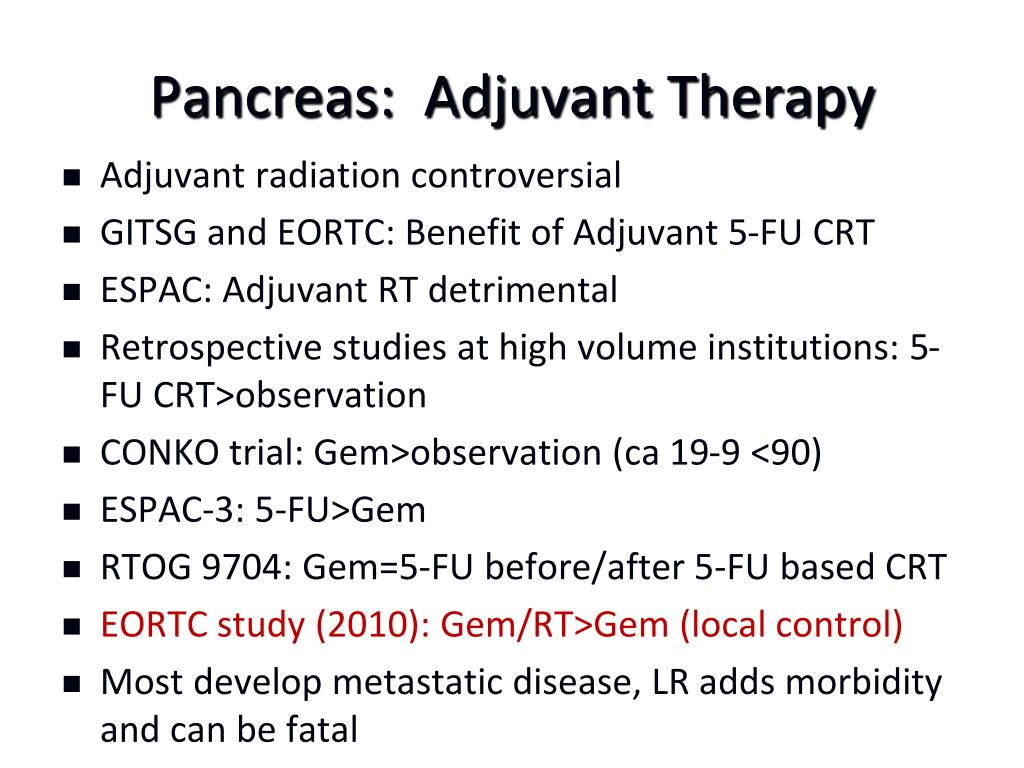 Pancreas:  Adjuvant Therapy
