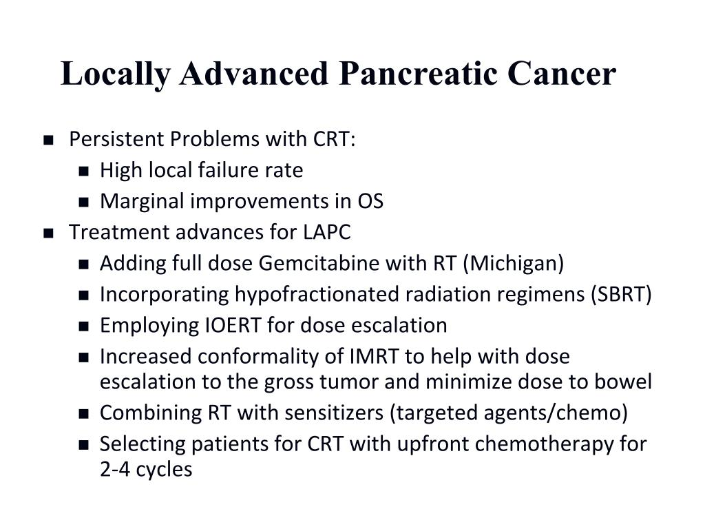 Locally Advanced Pancreatic Cancer
