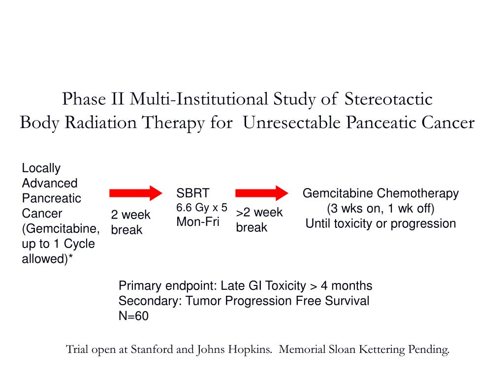 Phase II Multi-Institutional Study of Stereotactic