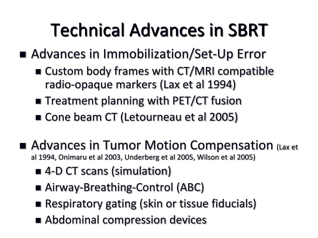 Technical Advances in SBRT