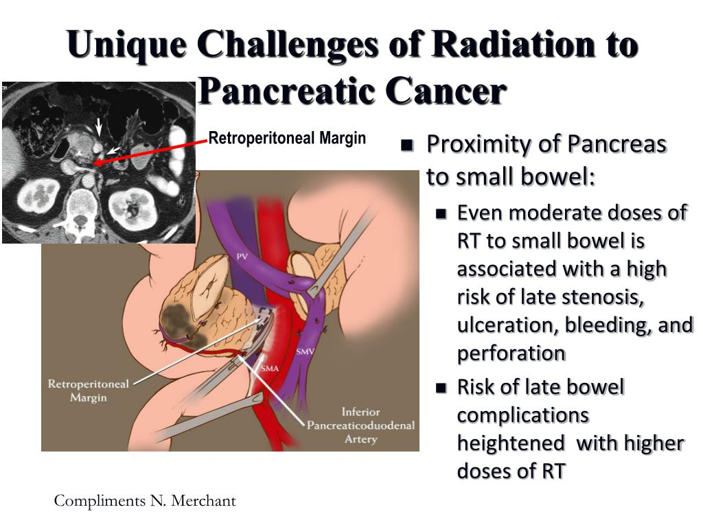 Proximity of Pancreas to small bowel: