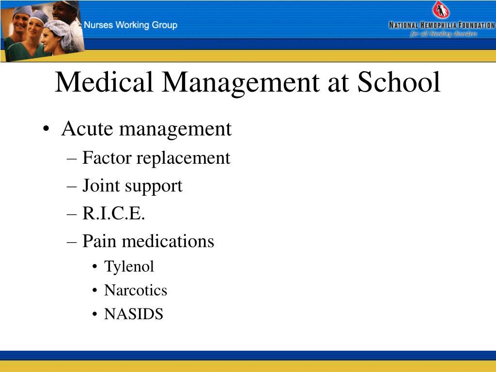 Medical Management at School