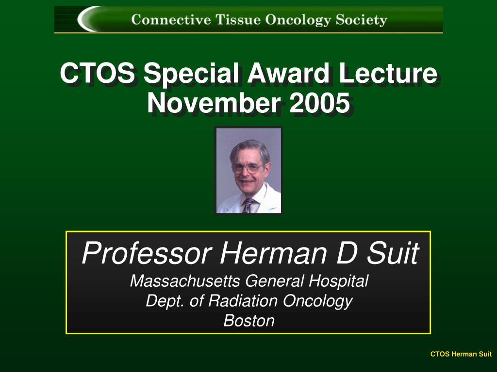 ctos special award lecture november 2005