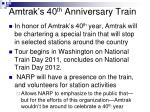 amtrak s 40 th anniversary train