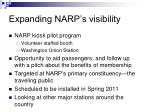 expanding narp s visibility