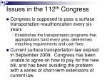 issues in the 112 th congress17