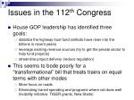 issues in the 112 th congress18
