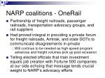 narp coalitions onerail