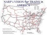narp s vision for trains in america