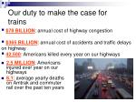 our duty to make the case for trains21