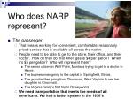 who does narp represent