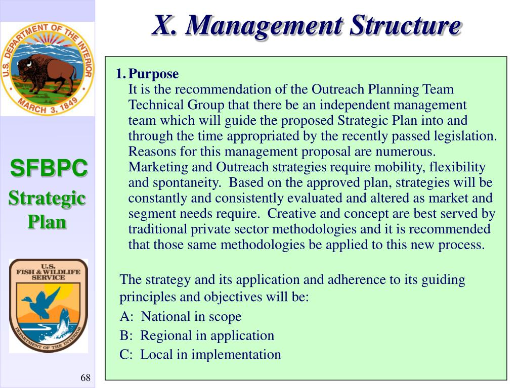 X. Management Structure