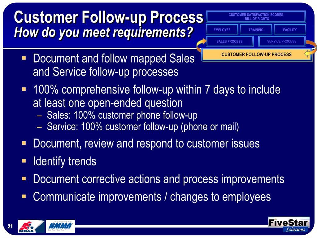 Customer Follow-up Process