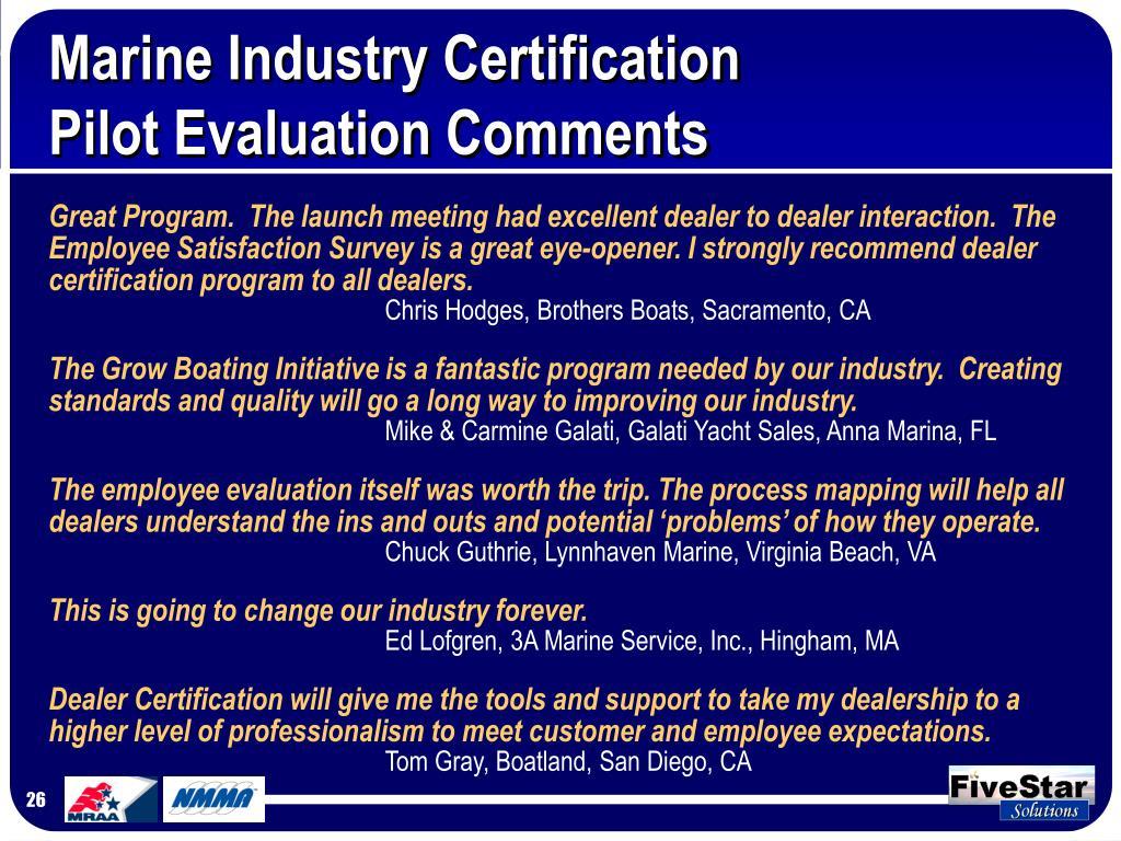 Marine Industry Certification