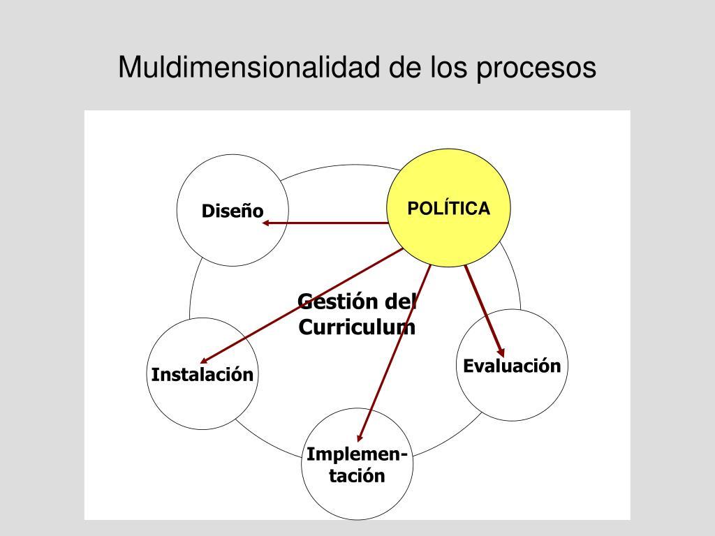 Muldimensionalidad de los procesos