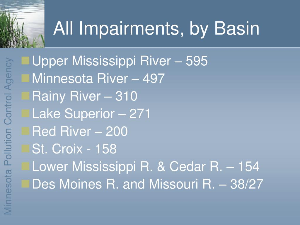 All Impairments, by Basin