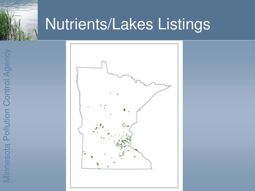 Nutrients/Lakes Listings