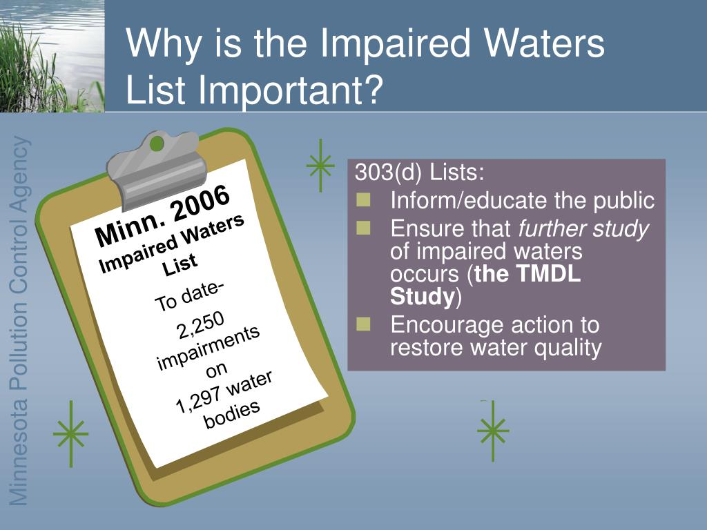 Why is the Impaired Waters List Important?