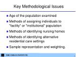 key methodological issues