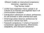 different models on intercultural competence interaction negotiation focus ting toomey model
