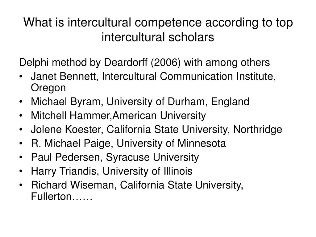 What is intercultural competence according to top intercultural scholars