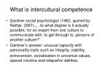 what is intercultural competence