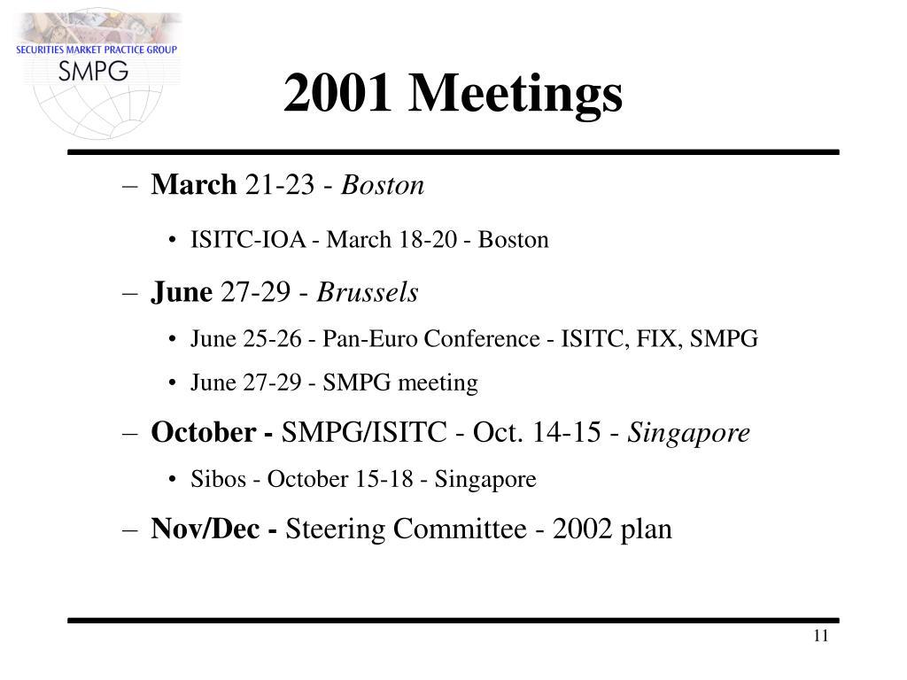 2001 Meetings