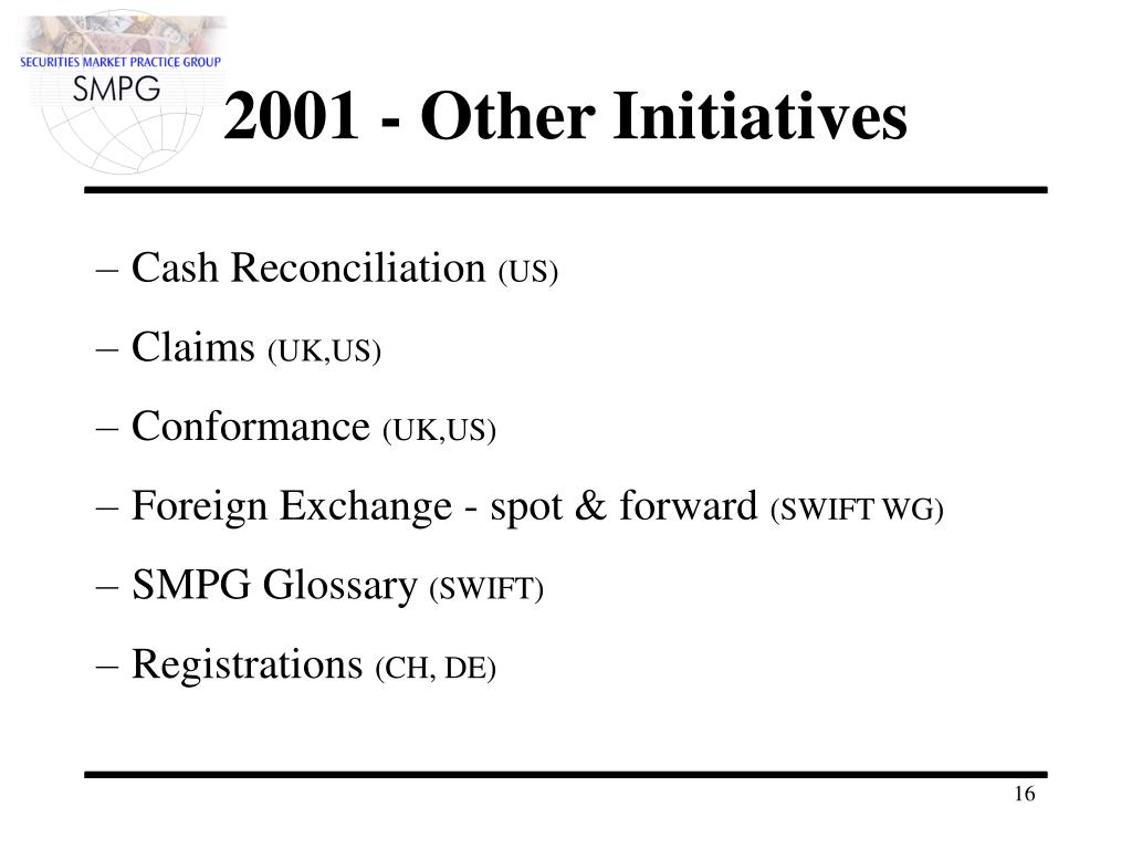 2001 - Other Initiatives