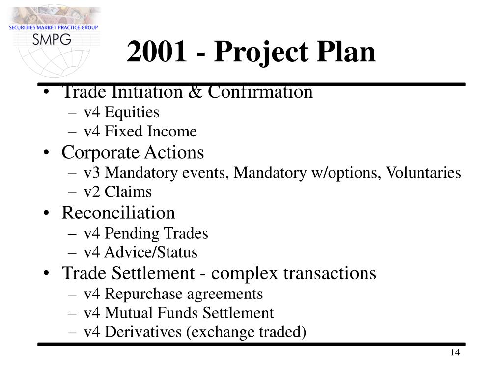 2001 - Project Plan