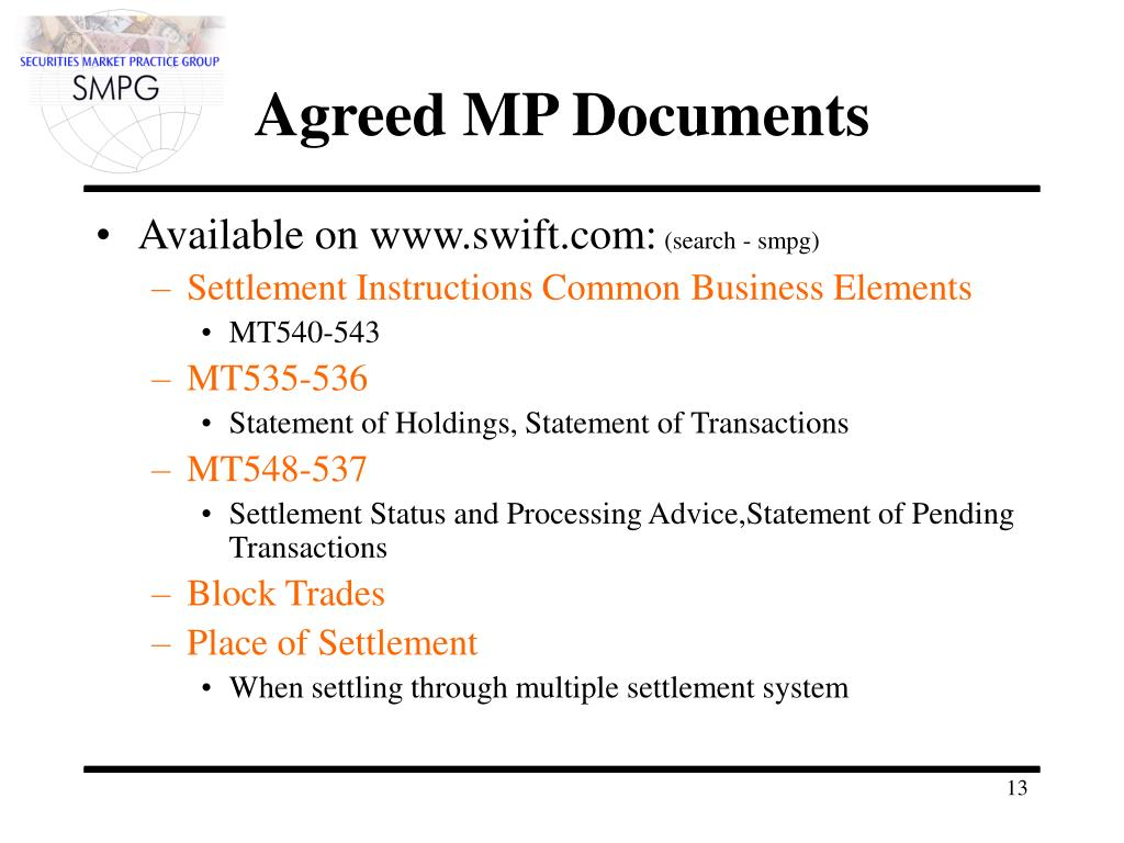 Agreed MP Documents