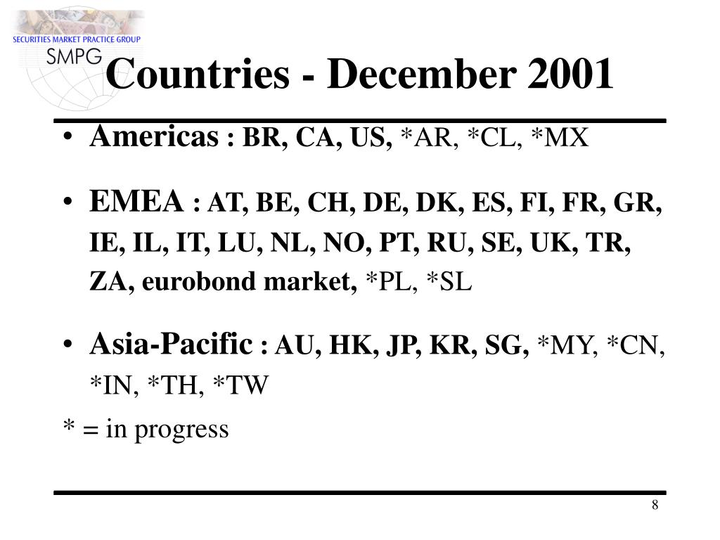 Countries - December 2001