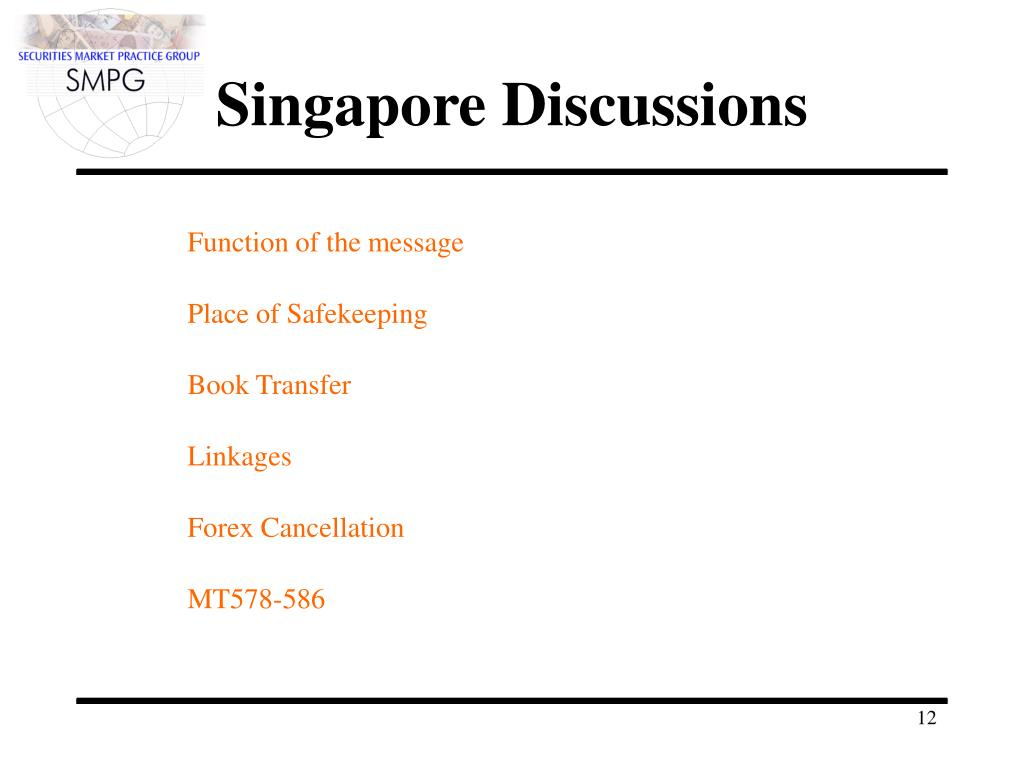 Singapore Discussions