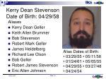 kerry dean stevenson date of birth 04 29 58